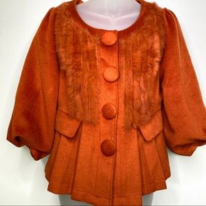 ANTHROPOLOGIE RYU Burnt Orange Crop Jacket Size S